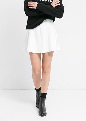 MANGO Neoprene-Effect Skater Miniskirt