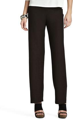 Eileen Fisher Washable-Crepe Straight-Leg Pants, Petite