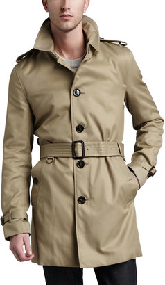 Burberry Single-Breasted Poly-Cotton Trenchcoat, Fallow