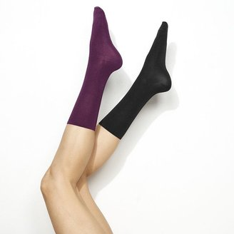 Vera Wang Simply vera 2-pk. luster flat & matte crew socks