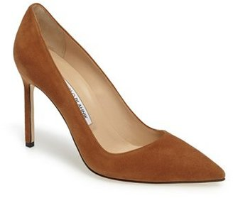 Women's Manolo Blahnik 'Bb' Pointy Toe Pump $595 thestylecure.com