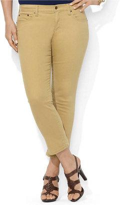 Lauren Ralph Lauren Plus Slim-Fit Straight Cropped Jean