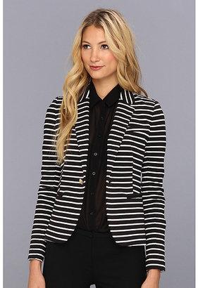 Juicy Couture Stripe Ponte Blazer