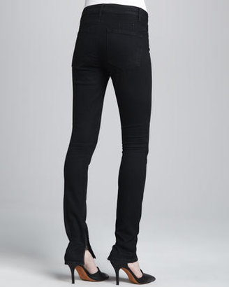 Vince Textured-Knee Skinny Jeans