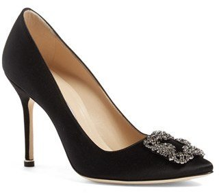 Women's Manolo Blahnik 'Hangisi' Jewel Pump $965 thestylecure.com