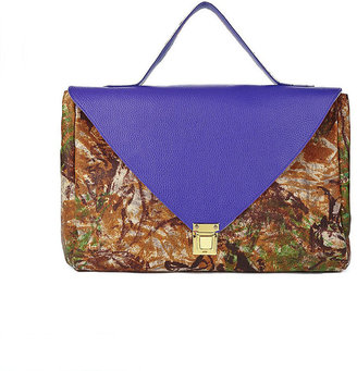 American Apparel Imperial Purple Camouflage Leather Envelope Case