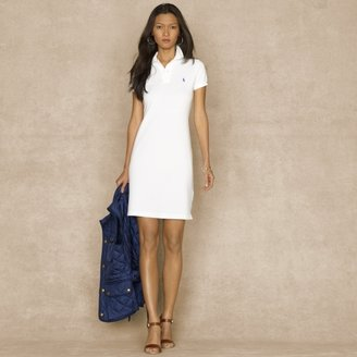 Ralph Lauren Blue Label Cotton Mesh Polo Dress