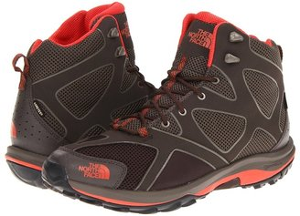 The North Face Hedgehog Guide Tall GTX (Coffee Brown/Zion Orange) - Footwear