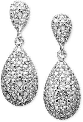 Townsend Victoria Sterling Silver Earrings, Diamond Accent Teardrop