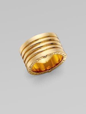 Michael Kors Goldtone Ribbed Ring