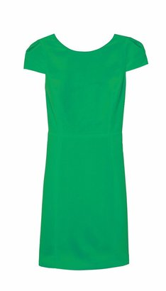 Tibi Silk Cap Sleeve Dress