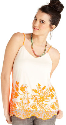6 Degrees Juniors Top, Sleeveless Embroidered