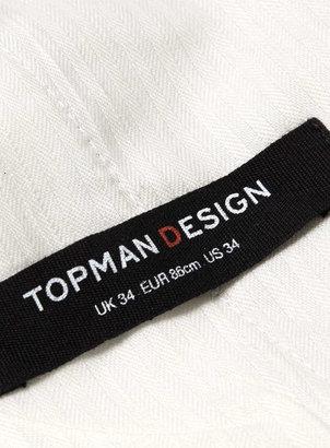 Topman White Wide Dress Pants