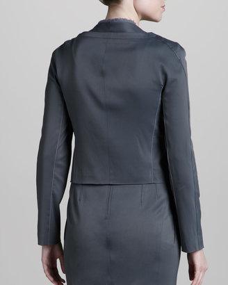 Zac Posen Stretch Suit Jacket, Pewter