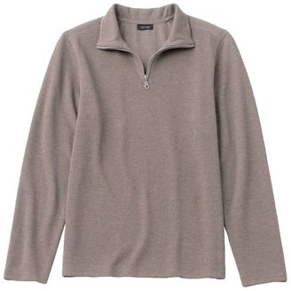 Apt. 9 1/4-zip solid ribbed pullover