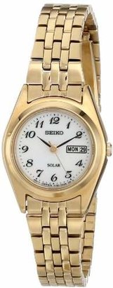 Seiko Women's SUT118 Gold-Tone Stainless Steel Watch $205 thestylecure.com