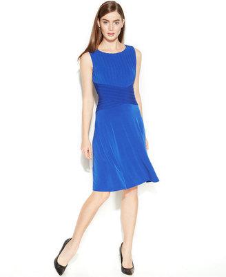 Calvin Klein Sleeveless Shutter Pleat Dress