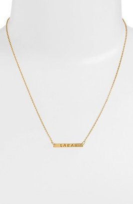 Women's Argento Vivo Personalized Bar Monogram Necklace (Nordstrom Exclusive) $88 thestylecure.com