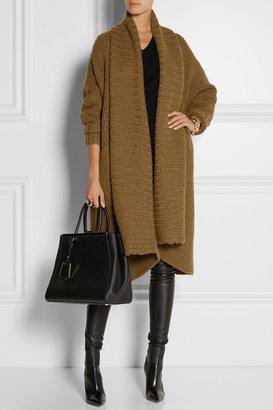 Donna Karan Oversized alpaca, silk, cashmere and wool-blend cardigan