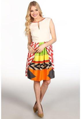 Ellen Tracy Aztec Dress (Aztec Multi) - Apparel