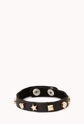 Forever 21 Standout Faux Leather Cuff