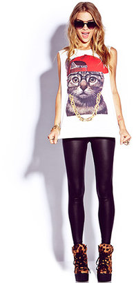 Forever 21 Street-Style Kitty Tee