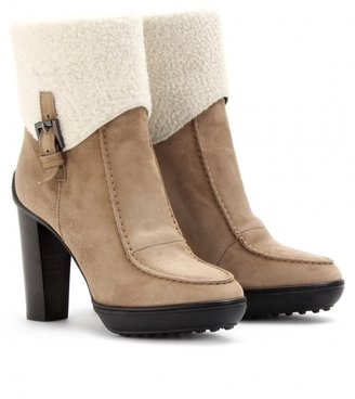 Tod's SHEEPSKIN CUFF ANKLE BOOTS