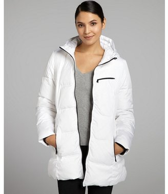 Marc New York white quilted 'Stratton' hooded down coat
