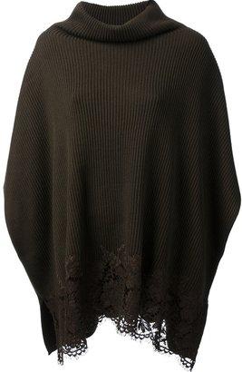 Valentino knit poncho top
