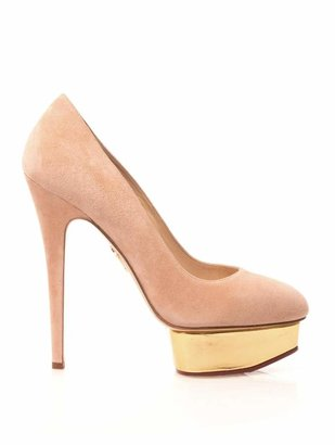 CHARLOTTE OLYMPIA Dolly suede pumps $653 thestylecure.com