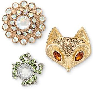 JCPenney Frog, Fox & Flower 3-pc. Pin Set