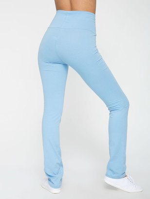American Apparel Cotton Spandex Jersey Straight Leg Yoga Pant
