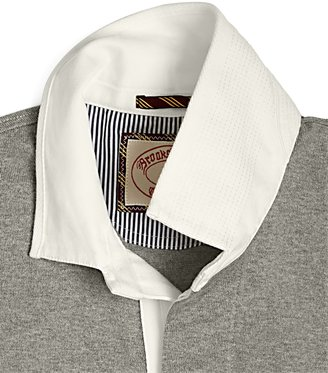 Brooks Brothers Striped Arm Contrast Rugby