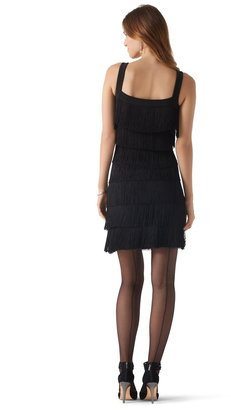 White House Black Market Black Fringe Dress