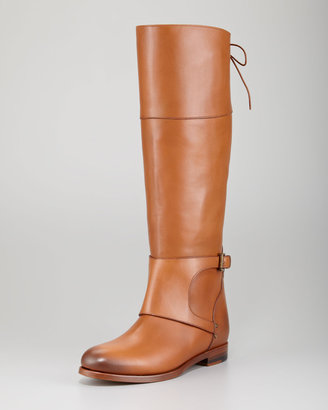 Ralph Lauren Sanita Leather Riding Boot, Camel