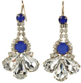 Juicy Couture Rhinestone Cluster Earrings (Gold) - Jewelry