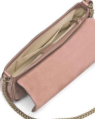 Gucci Soho Patent Leather Shoulder Bag, Nude