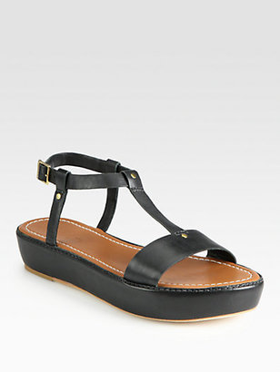 Elizabeth and James E-Cree T-Strap Platform Sandals