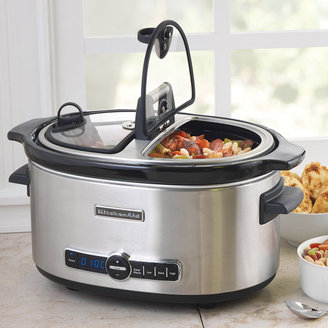 KitchenAid 6-Quart Slow Cooker with Easy Serve Lid, KSC6222SS