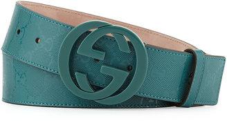 Gucci GG Imprime Belt, Verdant