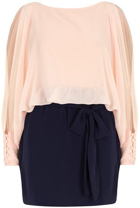 Dorothy Perkins Sugar Reef Colour block chiffon tunic