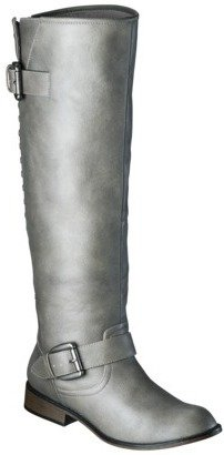 Mossimo Women's Kayce Studded Tall Boot - Grey