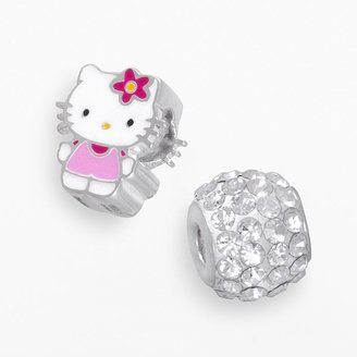 Hello Kitty® Sterling Silver Crystal Bead Set $70 thestylecure.com