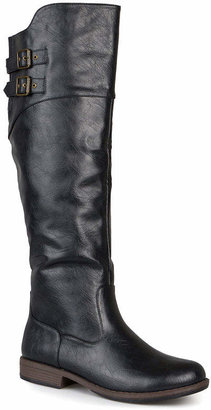 Journee Collection Womens Tori Wide Calf Knee-High Riding Boots