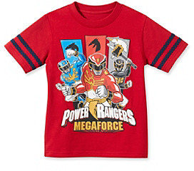 Power Rangers Boys' 4-20 Red Short Sleeve Megaforce Tee