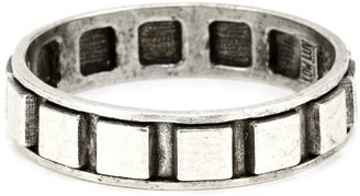 Low Luv x Erin Wasson by Erin Wasson Raised Squares Bangle Bracelet In Silver
