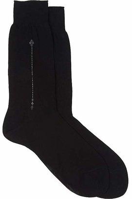 Barneys New York Men's Abstract Mid-Calf Socks $45 thestylecure.com