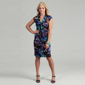 London Times Women's Floral Jersey Dress $38.99 thestylecure.com