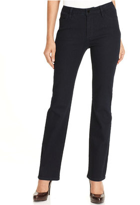 Jones New York Signature Jeans, Straight-Leg Studded, Indigo Blue Wash