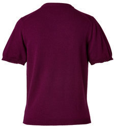 Marios Schwab Lace/Metal Cashmere Pullover in Beetroot